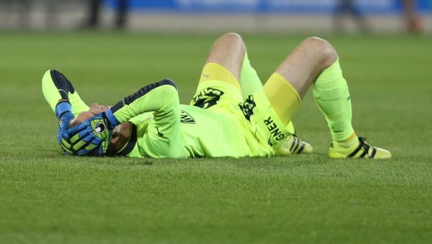 Mattersburg-Goalie Markus Kuster wäre ein Sieg lieber gewesen.