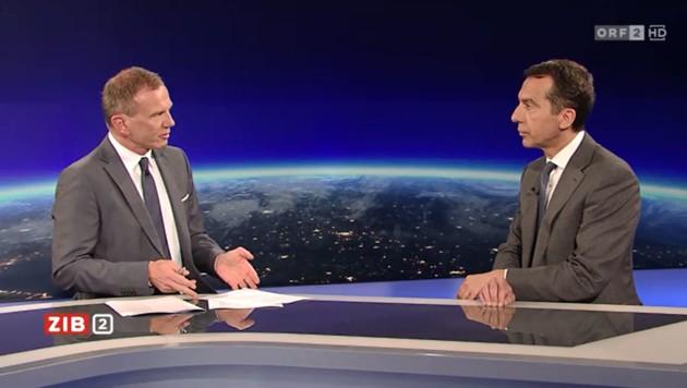 Bundeskanzler Christian Kern im Gespräch mit ORF-Moderator Armin Wolf