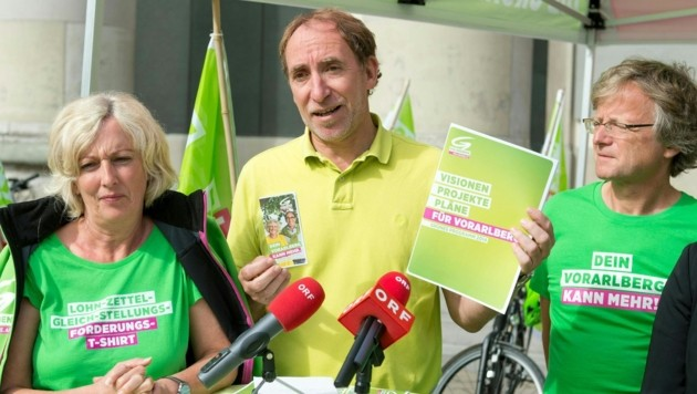 Adi Gross (im Bild rechts), Klubobmann der Vorarlberger Grünen