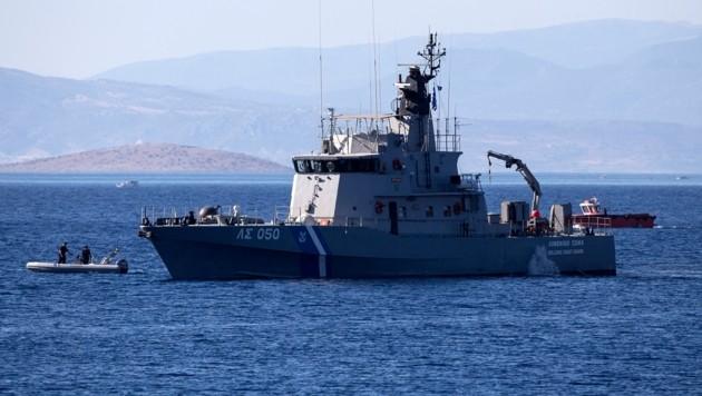 Ein Schiff der griechischen Küstenwache