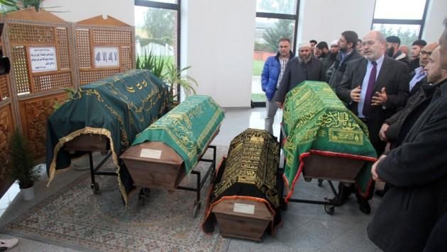 15 der 71 Opfer wurden auf dem muslimischen Friedhof in Wien-Inzersdorf bestattet.