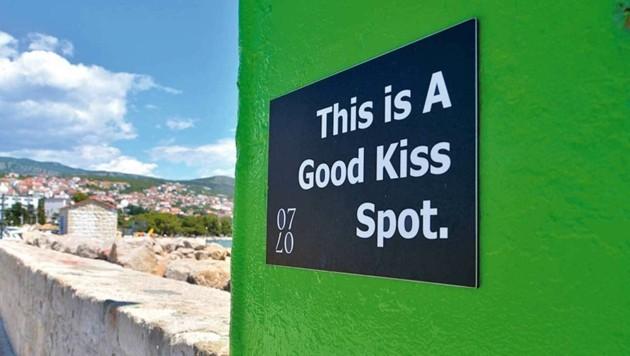 "Ein ""Kissing Spot"" in Crikvenica."