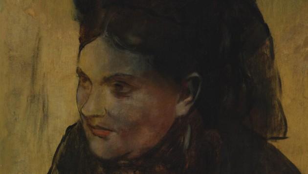 """""""Porträt einer Frau"""" von Edgar Degas (1834-1917)"""