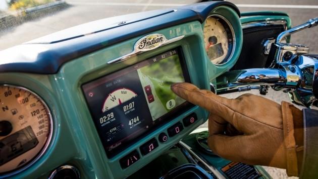 Infotainment-Technik wie im Auto: Das Ride Command von Indian (Bild: Indian Motorcycle)