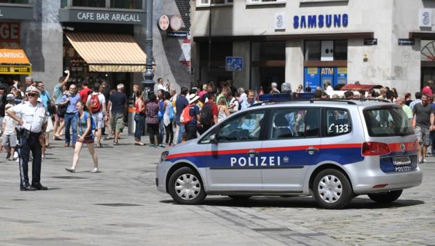 Auch der Stephansplatz wurde von der Polizei überwacht.