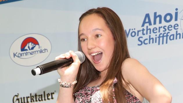 Vanessa Dollinger ist mit 14 Jahren bereits ein Profi auf der Bühne. (Bild: Kronen Zeitung)