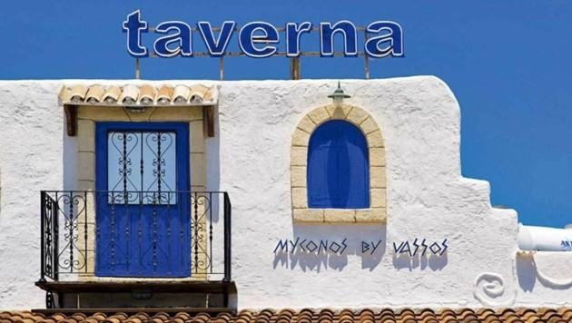 Eine typisch zypriotische Taverne.