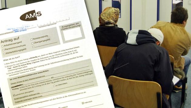 Immer mehr Asylberechtigte sind arbeitslos. (Bild: APA/HERBERT PFARRHOFER; CHRISTIAN JAUSCHOWETZ)
