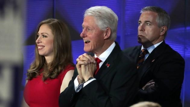 Chelsea und Bill Clinton