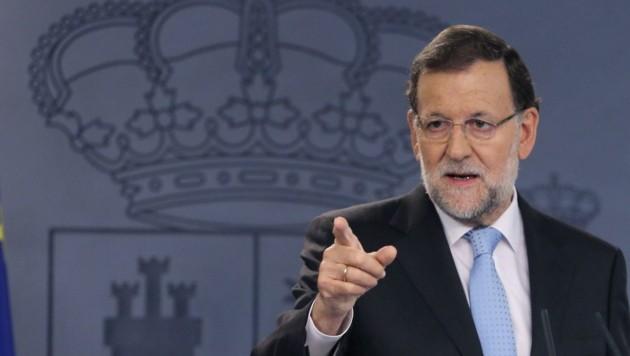 Spaniens Ministerpräsident Mariano Rajoy (Bild: APA/EPA/BALLESTEROS)
