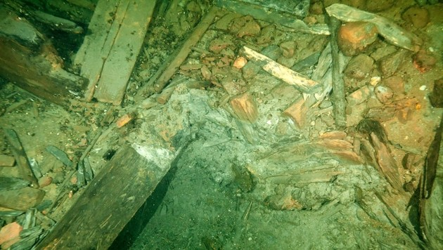 """Überreste der """"Kronan"""" am Grund der Baltischen See vor Schweden"""