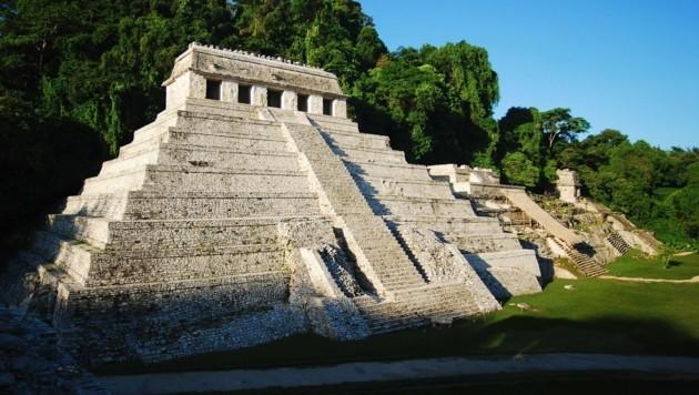 Der Tempel der Inschriften in Palenque (Mexiko)