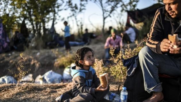 Syrische Flüchtlinge im Grenzgebiet zwischen der Türkei und Bulgarien