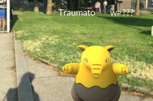 Beim Warten auf den Bus mal eben ein Pokemon gefunden!