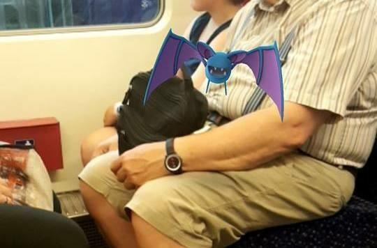 In der S-Bahn kann man Pokemon fangen!