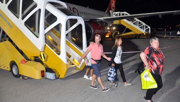 Erleichtert kamen die Türkei-Urlauber Samstag in Graz an