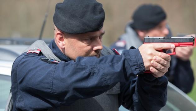 Ein Waffen-Einsatztraining bei der Exekutive (Symbolfoto)