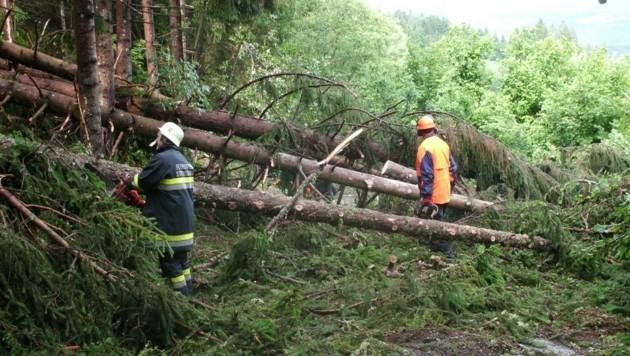 Die Unwetterschäden im Gemeindegebiet von Straßburg in Kärnten