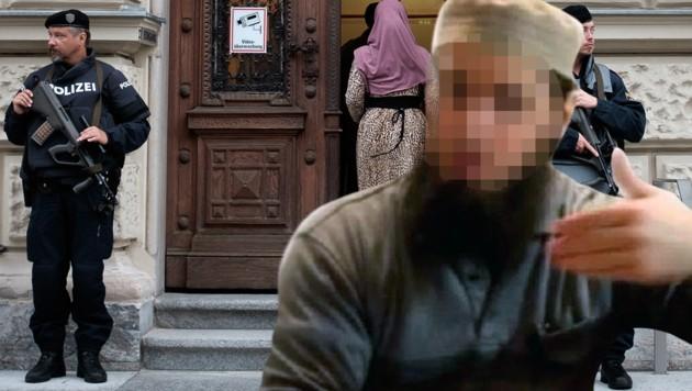 Der radikale Islamprediger Mirsad O. wurde 2016 in Graz verurteilt. (Bild: APA/ERWIN SCHERIAU, Social Medie)