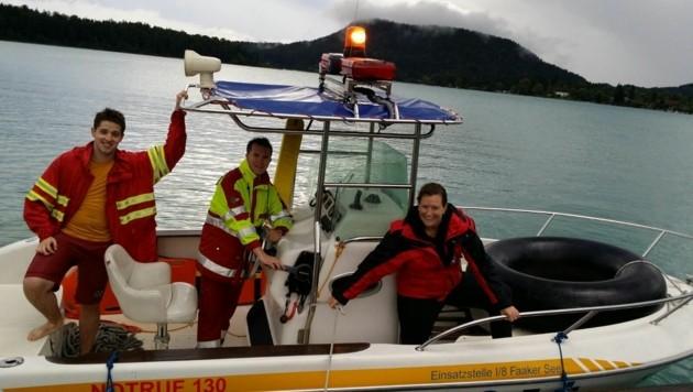 Wasserretter bargen auf dem Faaker See einen Bootfahrer