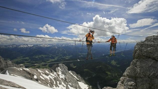 """Der Klettersteig """"Irg"""" am Dachstein ist nur für die Steiermark genehmigt."""