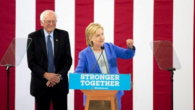 Bernie Sandersund Hillary Clinton (Bild: AFP)