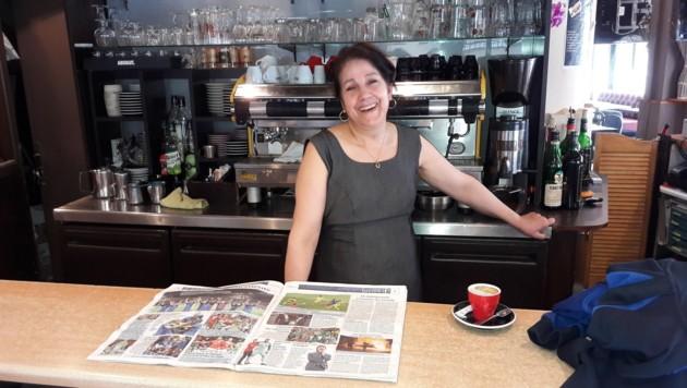 """Kellnerin Mathilde gefiel die EURO: """"Ich hatte nur Angst, als Jugendliche mein Auto schaukelten."""""""