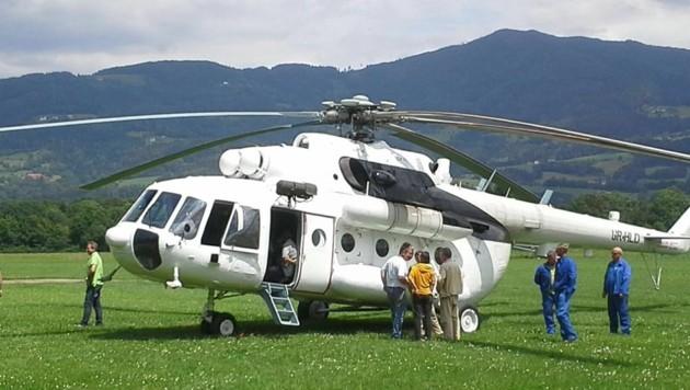 Die Mi-8 wurde direkt in St. Marein umgbaut