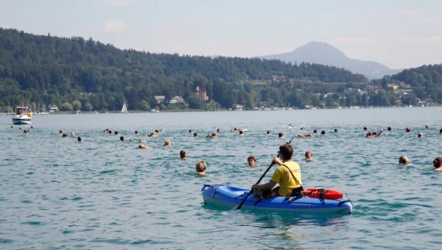 Die Wasserrettung wachte wieder mit knapp 100 ehrenamtlichen Helfern über der Schwimmstrecke