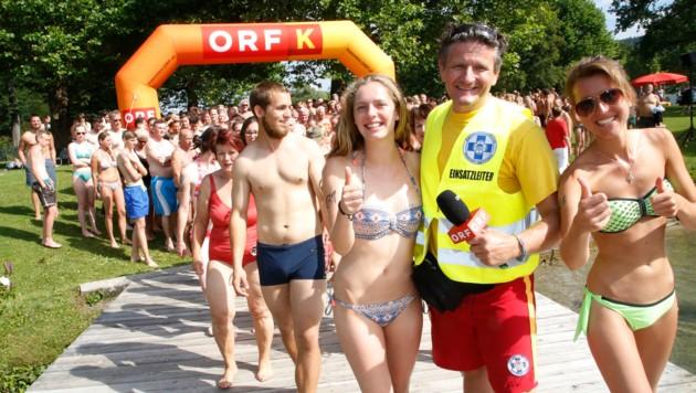 Knapp 600 Teilnehmer fanden sich wieder im Parkbad Krumpendorf ein