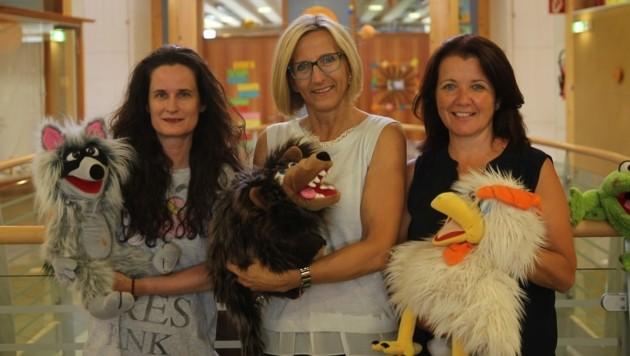 Das Lehrerteam: Silke Neuwirth, Direktorin Lydia Gasser, Angelika Ebner.