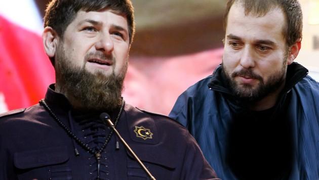 """Tschetschenien-Präsident Kadyrow (li.): """"Tschatajew (re.) wurde in Österreich zum Terroristen."""" (Bild: ASSOCIATED PRESS)"""