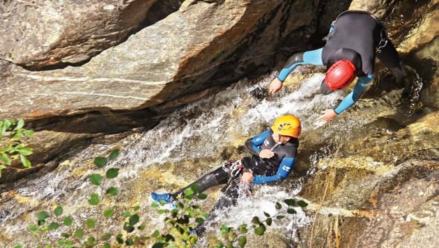 Spaß für Groß und Klein: Canyoning