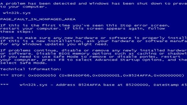 """Mit einem """"Blue Screen of Death"""" jagen Sie Ihren Freunden und Kollegen einen Schrecken ein. (Bild: fakeupdate.net)"""