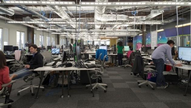 Büro im kalifornischen Facebook-Hauptquartier (Bild: Facebook)
