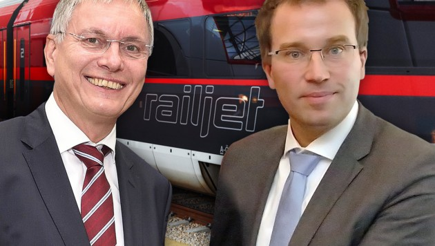 Minister Stöger (li.) und AMS-Chef Kopf (Bild: ÖBB, APA/BMVIT/Johannes Zinner, Martin A. Jöchl)