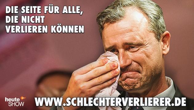 Deutschland ist sich einig: Die FPÖ ist schlecht im Verlieren. (Bild: Screenshot/ZDF)