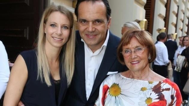Robert und Stefanie Glock, Mama Helga (Bild: Planter's Club/Karl Schöndorfer)