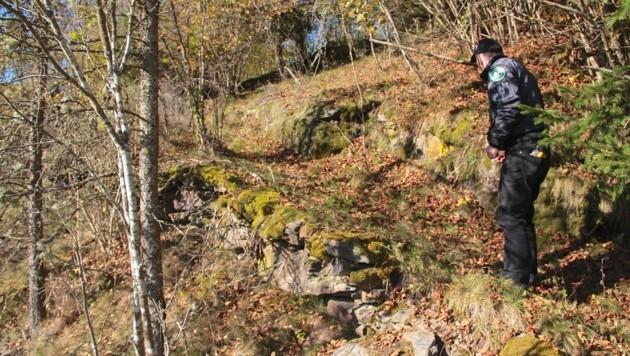 Am Kirchberg im Görtschitztal ist Heimatforscher Gottfried Wernig auf die Siedlung gestoßen (Bild: Hannes Wallner)