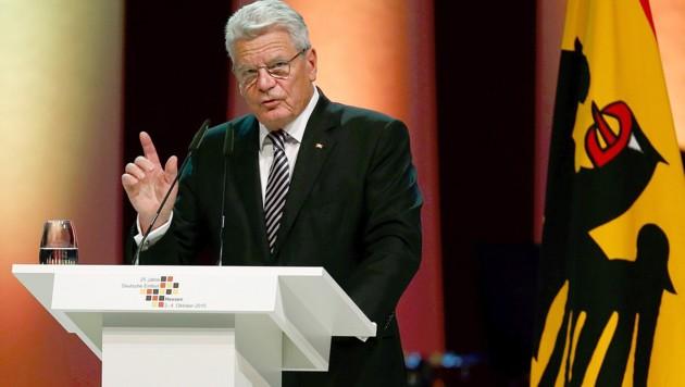 Deutschlands Bundespräsident Joachim Gauck