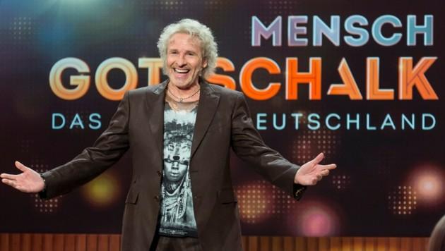 "Thomas Gottschalk moderiert ""Mensch Gottschalk"". (Bild: RTL/Andreas Friese)"