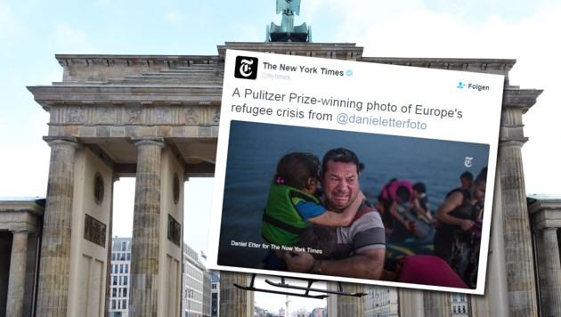 (Bild: APA/AFP/JOHN MACDOUGALL, twitter.com/nytimes)