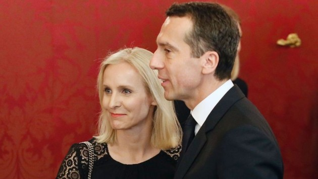Christian Kern mit seiner Ehefrau Eveline (Bild: APA/AFP/Dieter Nagl)