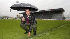 Vom Regen in die Traufe: Grödig-Manager Haas verzichtet nach dem Abstieg auf die zweite Liga. (Bild: Andreas Tröster)