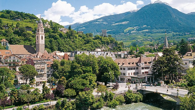 Blick auf Meran (Bild: Suedtirol-Tirol.com)