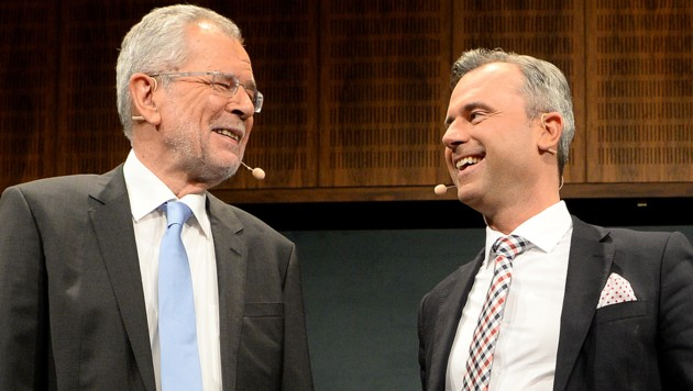 Alexander Van der Bellen und Norbert Hofer (Bild: APA/Roland Schlager)