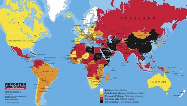 In weiten Teilen der Erde - etwa in der Türkei - wird die Pressefreiheit nicht geachtet. (Bild: Reporter ohne Grenzen)