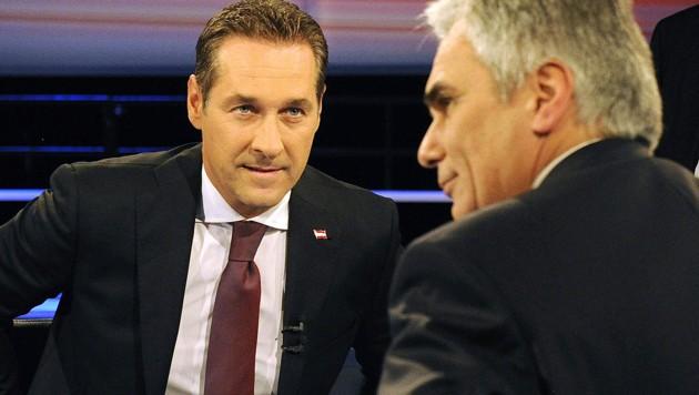 Heinz-Christian Strache, Werner Faymann - wird das Eis brechen? (Bild: APA/Herbert Pfarrhofer)