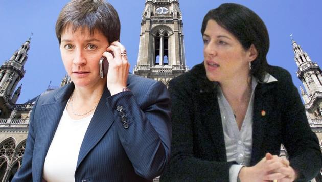 Tanja Wehsely (re.) unter Beschuss; links: Sozialstadträtin Sonja Wehsely (Bild: APA/Hans Klaus Techt, EXPA/Michael Gruber, picturedesk.com)