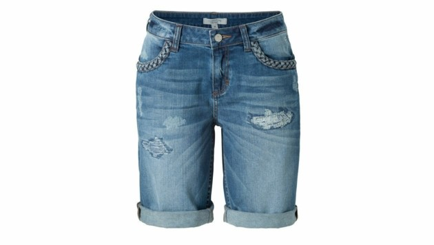 Coole Jeansshorts im Destroyed-Look (Bild: Comma)